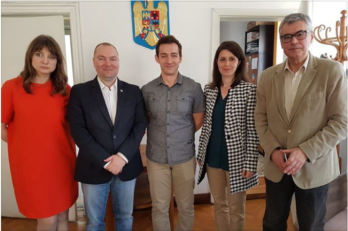 Wizyta delegacji CE naUniwersytecie Babes-Bolyai (Kluż, Rumunia)