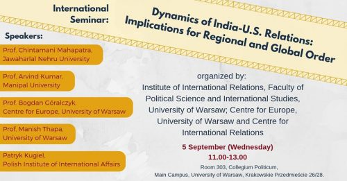 International Seminar: Dynamics of India-U.S. Relations
