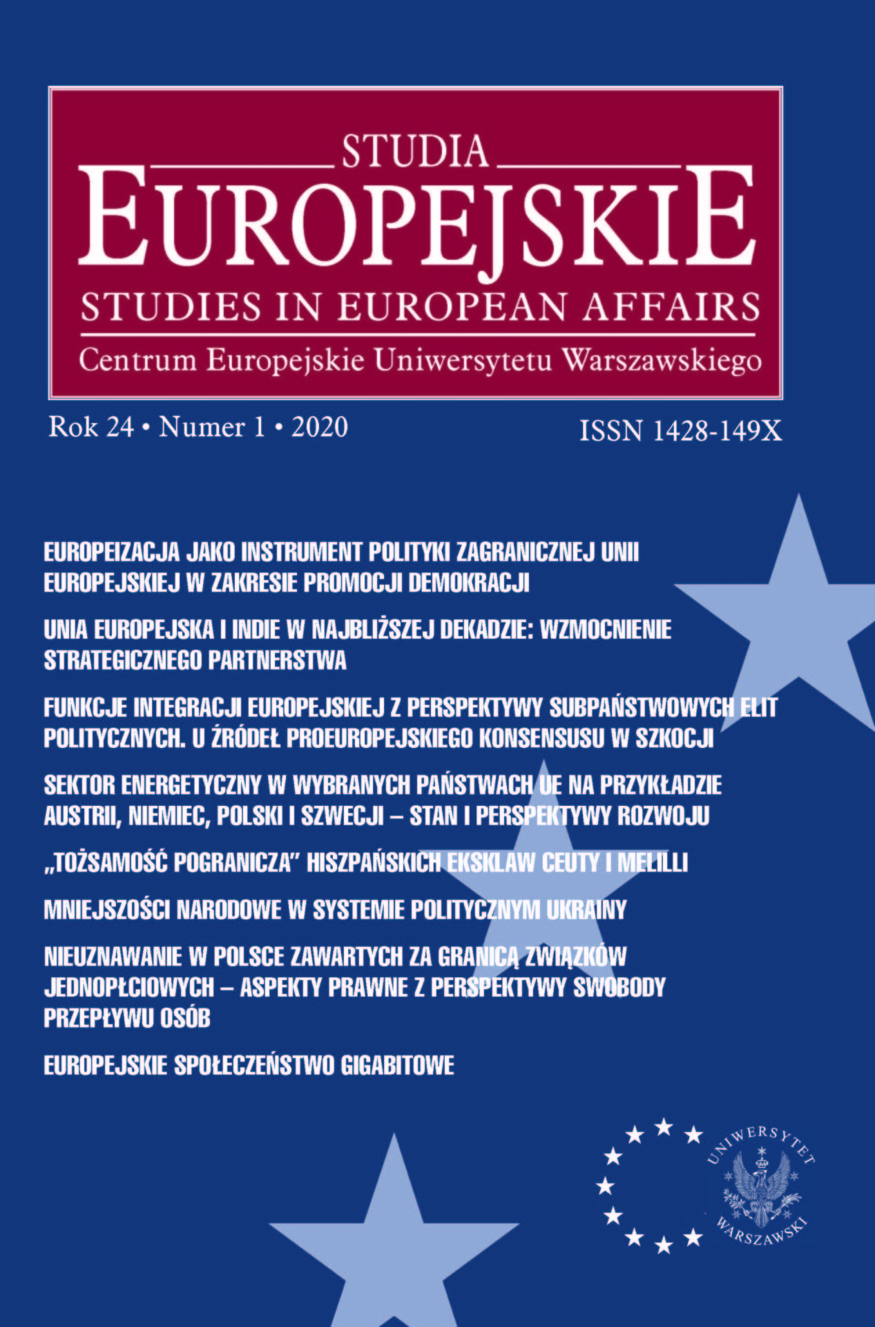 Kwartalnik Studia Europejskie 3-2016