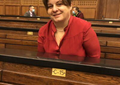 Dr Mariola Zalewska - dyrektor Uniwersyteckiego Centrum Badań nadŚrodowiskiem Przyrodniczym iZrównoważonym Rozwojem, ibyła Senator UW