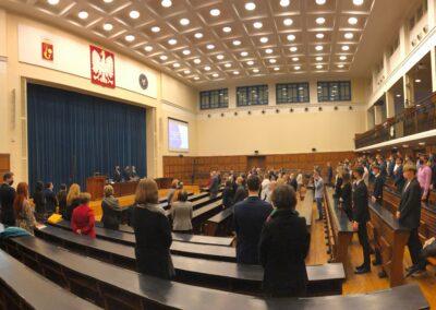 Inauguracja wypełniona sala Auditorium Maximum