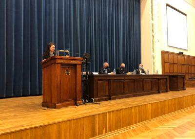 Wystąpienie przedstawicielki absolwentów Centrum Europejskiego UW Anny Bogumił