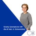 Granty Wewnętrzne UW Dla Dr Hab. Agaty Dziewulskiej